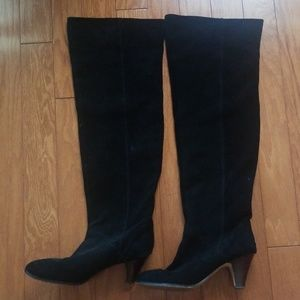 Shoes - Black over knee high boot